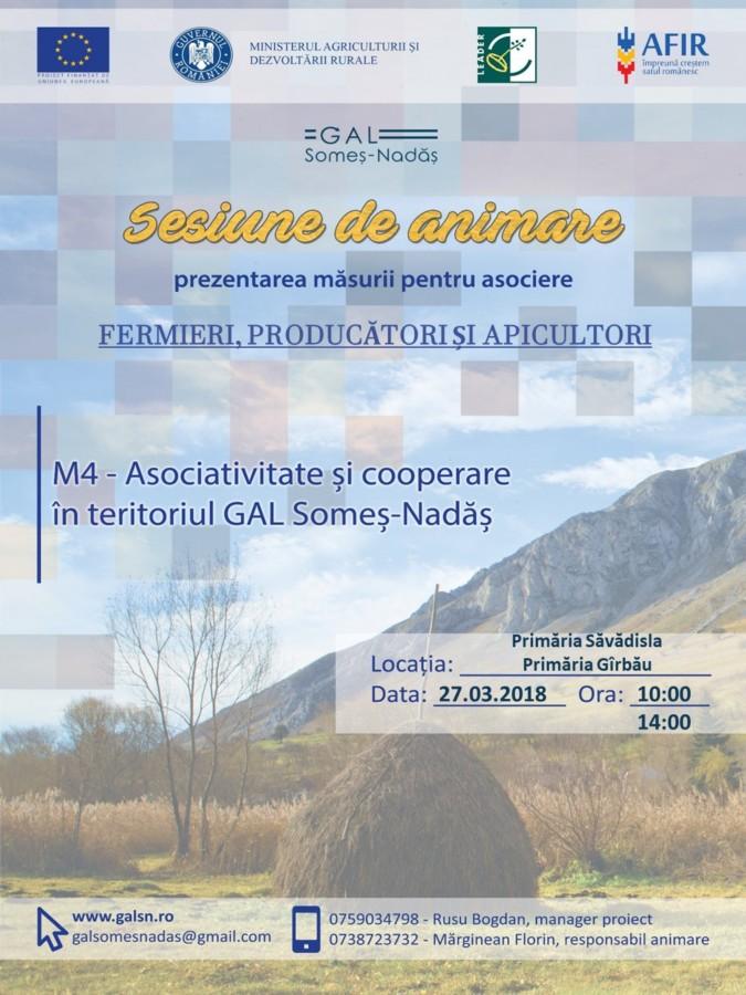 Promovarea măsurii M4 – Asociativitate și cooperare